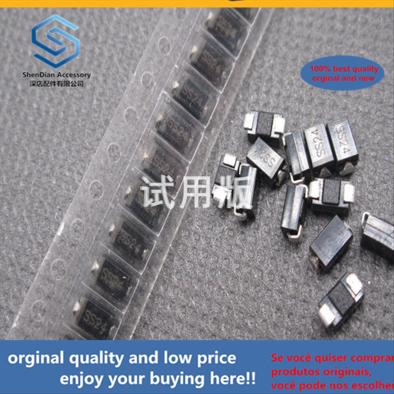 50pcs 100% Orginal New Best Quality SS24 SMD Schottky Diode SMB --- DO-214AA Package SR240 SMD