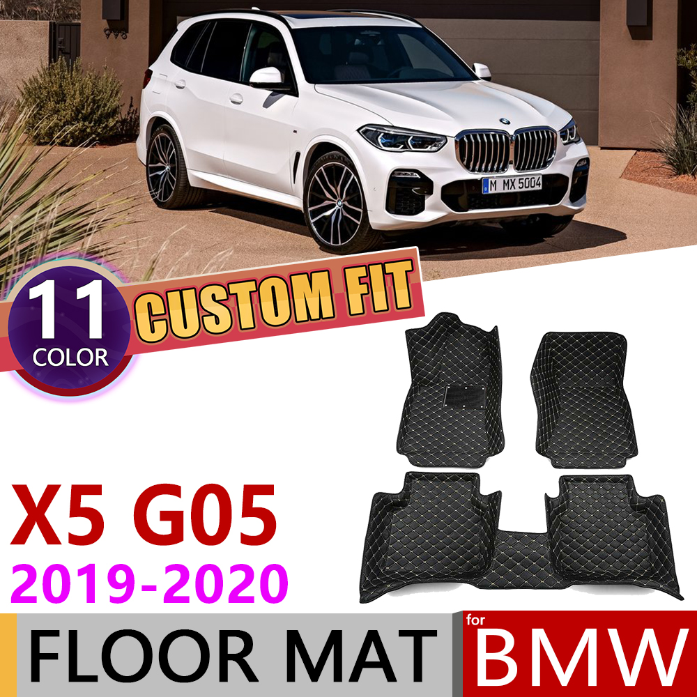 Custom Leather Car Floor Mats For BMW X5 G05 2019~2020 5 Seats Waterprool Anti-dirty Auto Mat Foot Pad Carpet Cover Accessories