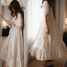 young women summer lace dress suit short sleeve fashion fair