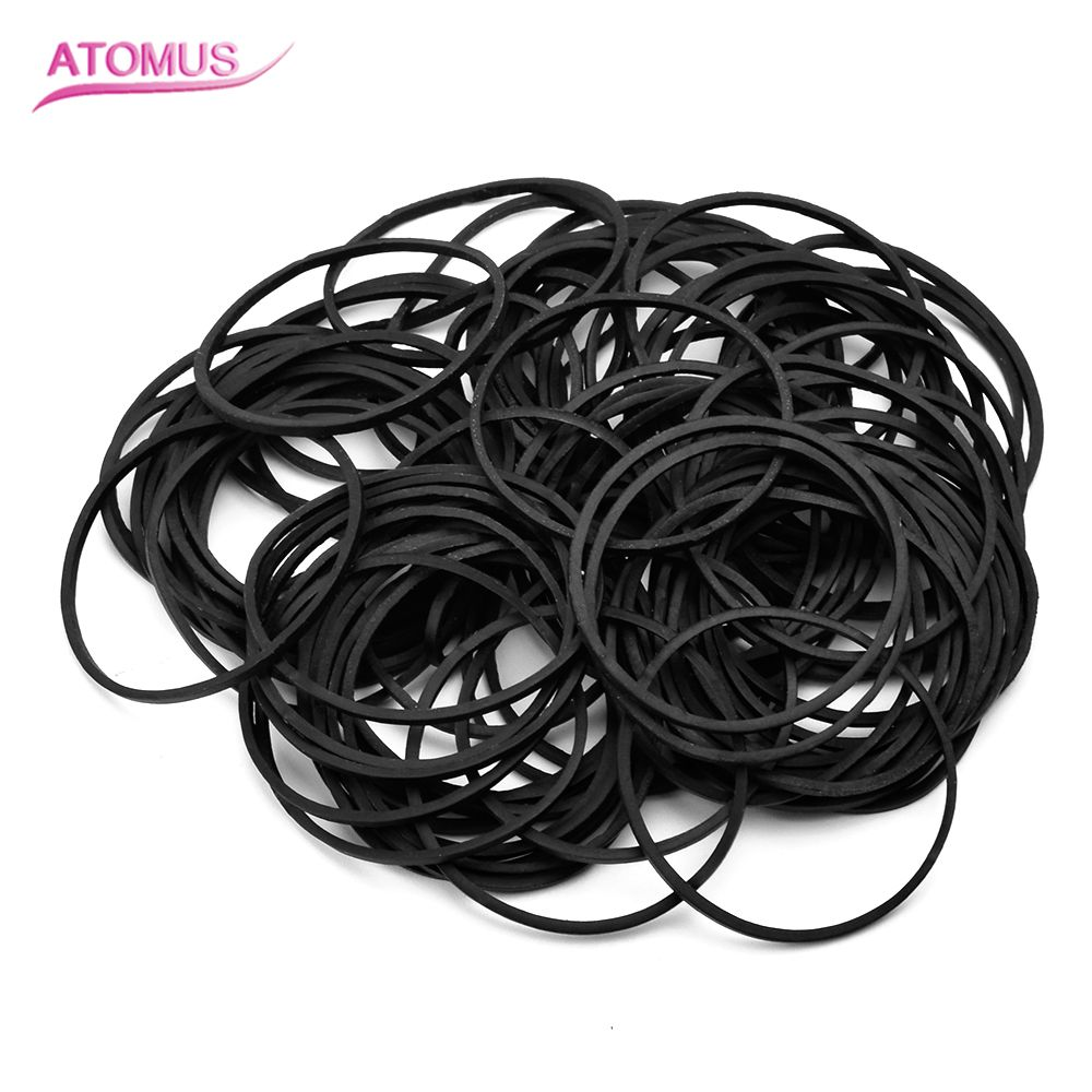 100pcs 40mm Tattoo Accessories Supply Rubber Bands Gun Black Rubber Tatoo For Tattoo Machine Parts Plastic Professional
