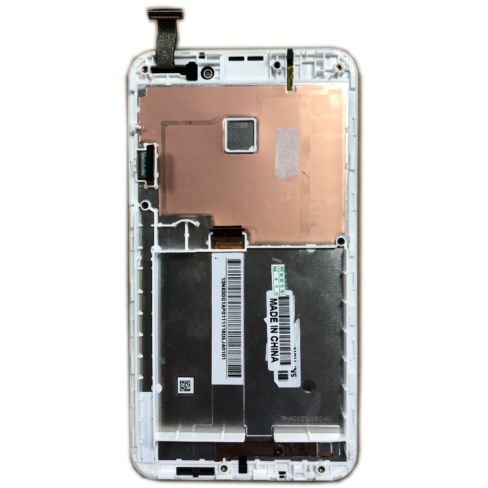 LCD Touch Screen Digitizer Assembly For Asus Fonepad Note 6 FHD6 ME560CG ME560 K00G With Frame White Color