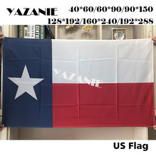 YAZANIE United States of American Polyester Lone Star Texas State Flags and Banners Polyester Printed Brass Grommets Flags