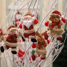 Snowman Deer Shaped Doll Christmas Festival Gift Tree Hanging Ornament decorations pendants