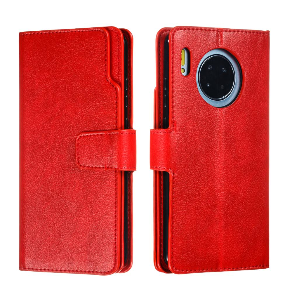 Wallet PU Leather Case For Huawei Mate 30 Stand Flip 9 Cards Litchi Texture Leather Cover For Huawei Mate 30 Pro