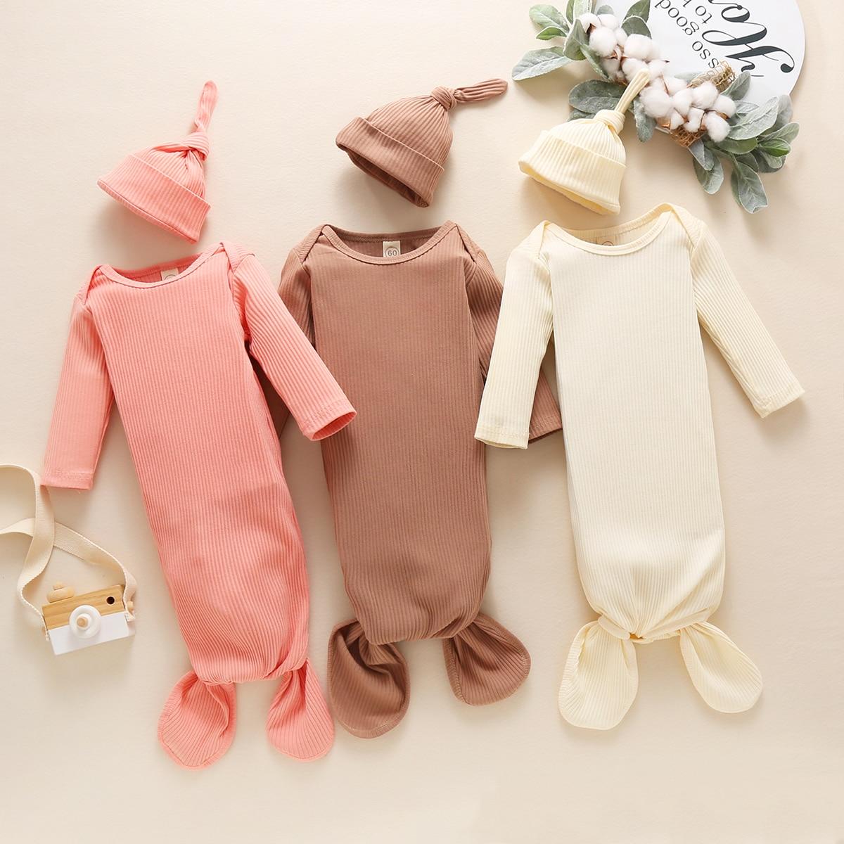 2020, для новорожденных, для детей 0-3 лет, M для маленьких мальчиков девочек спальные мешки + шляпа 2 шт. Осенняя новая рубашка с длинным рукавом ...