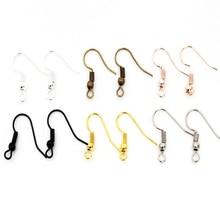 DIY Earring Making-Accessories Jewelry Clasps-Hooks-Fittings Iron-Hook Earwire 60pcs/Lot