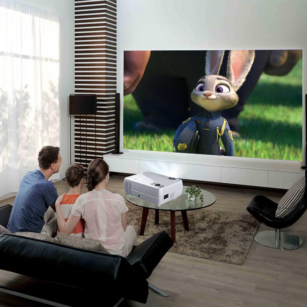 POWERFUL-proyector Mini X5 + 1280x720P, 2800 lúmenes, 1080P, compatible con 3D, portátil, conexión vía Puerto USB, HDMI, VGA con TV box PS4