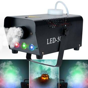500W Sis/Duman Makinesi W/Uzaktan RGB LED DJ Atıcı DJ Parti Aile Topu Eğlence PartiesStage Işık Duman Atıcı