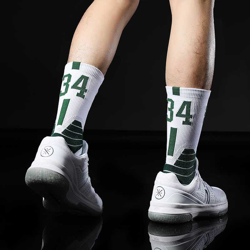 No34 Giannis The Alphabe Antetokounmpo Basketball Player Thick Sport Crew Towel Socks Digital Number Milwaukee Team Thirty Four