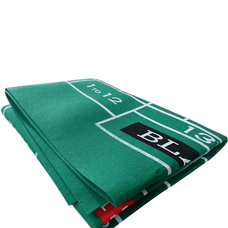 Double-sided Game Tablecloth Russian Roulette & Blackjack Gambling Table Mat 652D