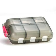 Novo curso conveniente medicina pílula caixa 12 grades comprimidos dispenser pílula organizador tablet pillbox caso recipiente divisor de drogas