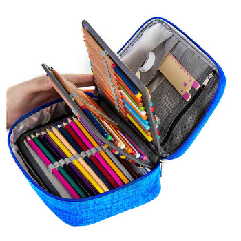 Canvas School Pencil Cases For Girls Boy Pencilcase 72 Holes Pen Box Penalty Multifunction Storage Bag Case Pouch Stationery Kit penalty area