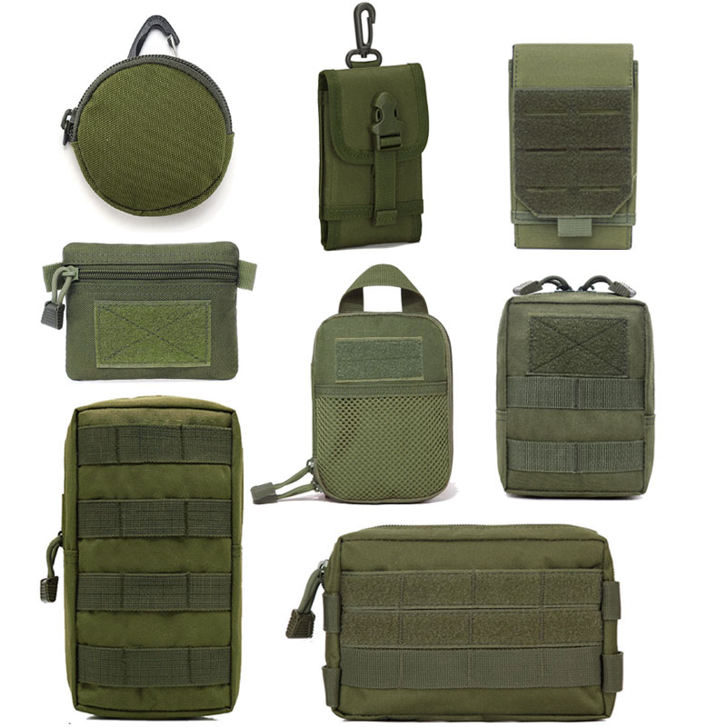 Tactical Bag Outdoor Molle Military Waist Fanny Pack Mobile Phone Pouch Hunting Gear Accessories Belt Waist Bag Army EDC Pack