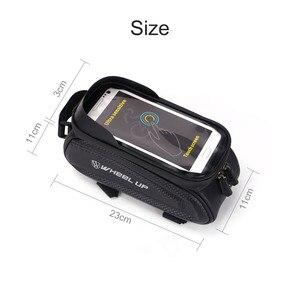 Image 3 - Колеса до 7,0 дюймов Водонепроницаемый велосипедная сумка переднюю верхнюю раму жесткий корпус сумка чехол для телефона сумка с сенсорным экраном MTB велосипед аксессуары