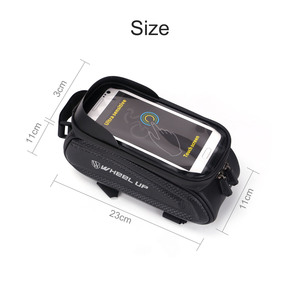 Image 3 - Wheel Up 7.0 Inch Waterproof Bicycle Bag Frame Front Top Tube Hard Shell Bag Phone Case Touchscreen Bag MTB Bike Accessories