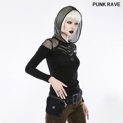 Knappe Dagelijkse Toevallige Oude Textuur Denim Verwijderbare Riem Tas Punk Persoonlijkheid Mode Vrouwen Riem Accessoires Punk Rave WS-245YDF