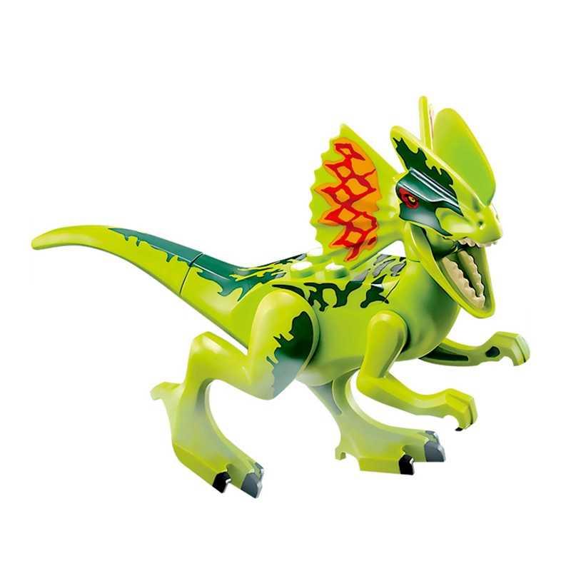 Jurassic Dinosaurus Dunia Indoraptor Velociraptor Triceratop T-Rex Jurassic Taman Hewan Blok Bangunan Batu Bata Mainan untuk Anak