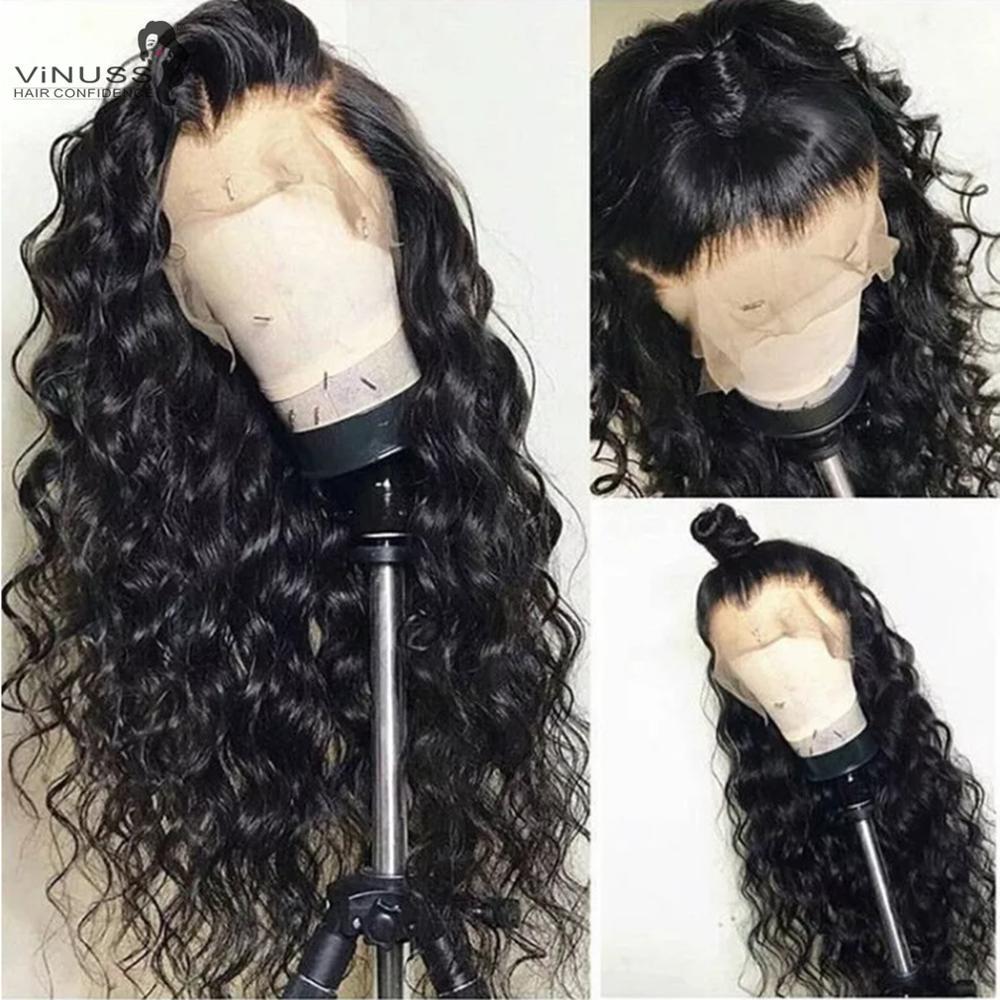 180% densité 360 dentelle frontale cheveux humains perruques lâche vague de corps pré plumé délié bébé cheveux brésiliens Remy cheveux pour les femmes noires