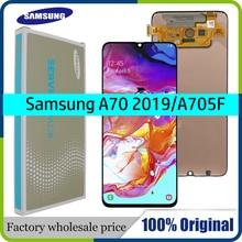 100% супер AMOLED 6,7 ЖК дисплей для samsung Galaxy A70 A705 A705F SM A705MN сенсорный экран дигитайзер сборка + Сервисный пакет