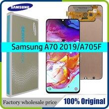 100% SUPER AMOLED 6,7 LCD Display für Samsung Galaxy A70 A705 A705F SM A705MN Touchscreen Digitizer Montage + Service paket