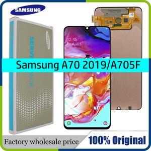 Image 1 - 100% SUPER AMOLED 6,7 pantalla LCD para Samsung Galaxy A70 A705 A705F SM A705MN montaje digitalizador de pantalla táctil + servicio paquete