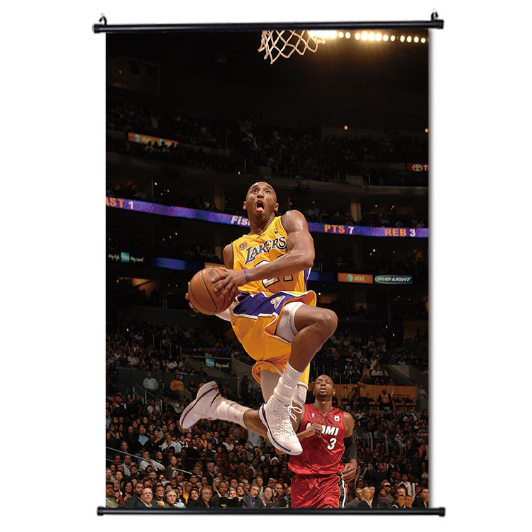 Kobe Bryant canvas posters DIY Home Decor Basketball Players Wall Decals Sport Star For Kids Living Room image