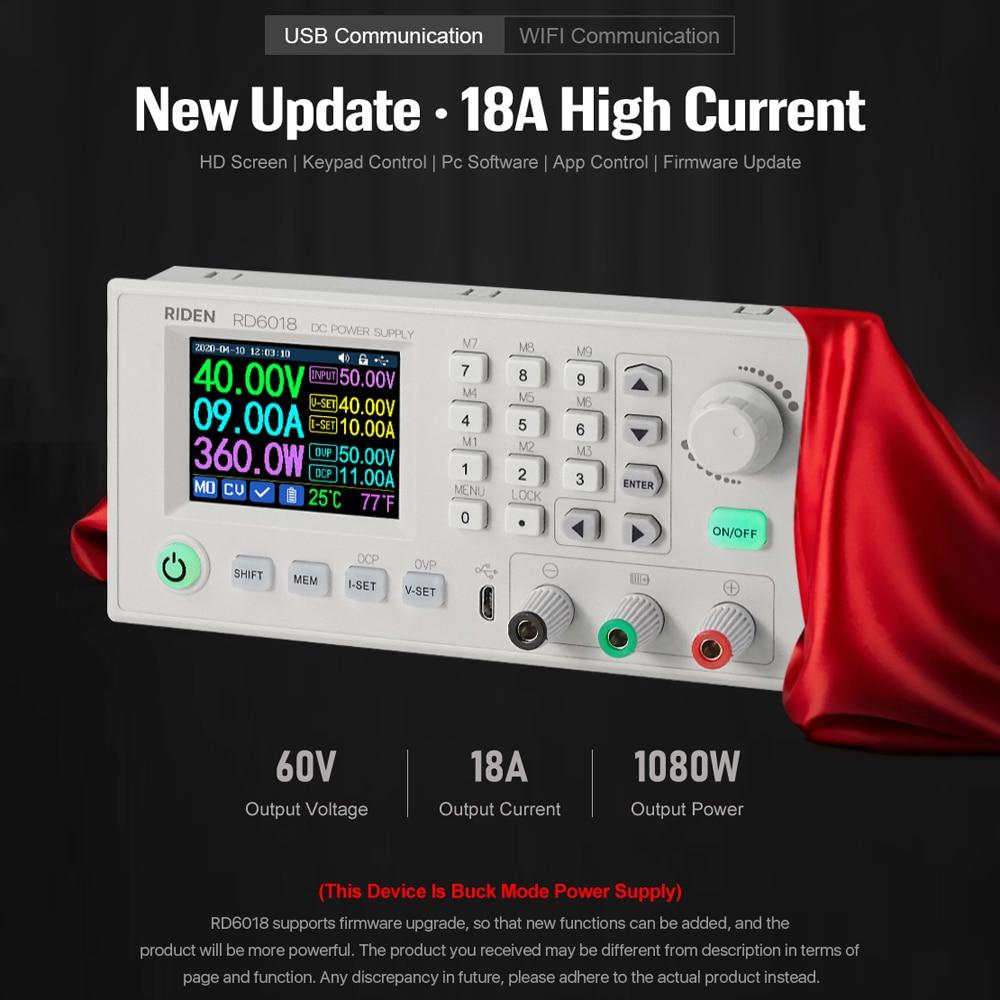RD RD6018 RD6018W USB WiFi DC-DC tension courant abaisseur Module dalimentation convertisseur de tension Buck voltmètre VS RIDEN RD6006