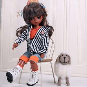 UCanaan/1/6 желто-коричневого цвета с темным оттенком кожи куклы 30 см мяч шарнирные куклы с Полный комплект одежды парик обувь макияж для девочек...