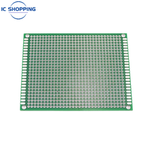 7x9 7*9cm Double Sided Prototype PCB Tin-plated General DIY Board Experiment Board Ring Hole Bread Board 2.54mm Fiberglass Board