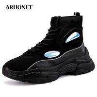 AURONET Autumn No Slip krasovki Sneakers Street Style Men Shoes Chunky Dad Shoes Men Soft Walking Sneakers zapatos de hombre