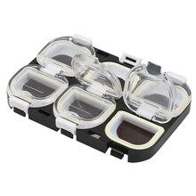 Прозрачный магнит пластиковая коробка для хранения рыболовных приманок рыболовные снасти Крючки Чехол