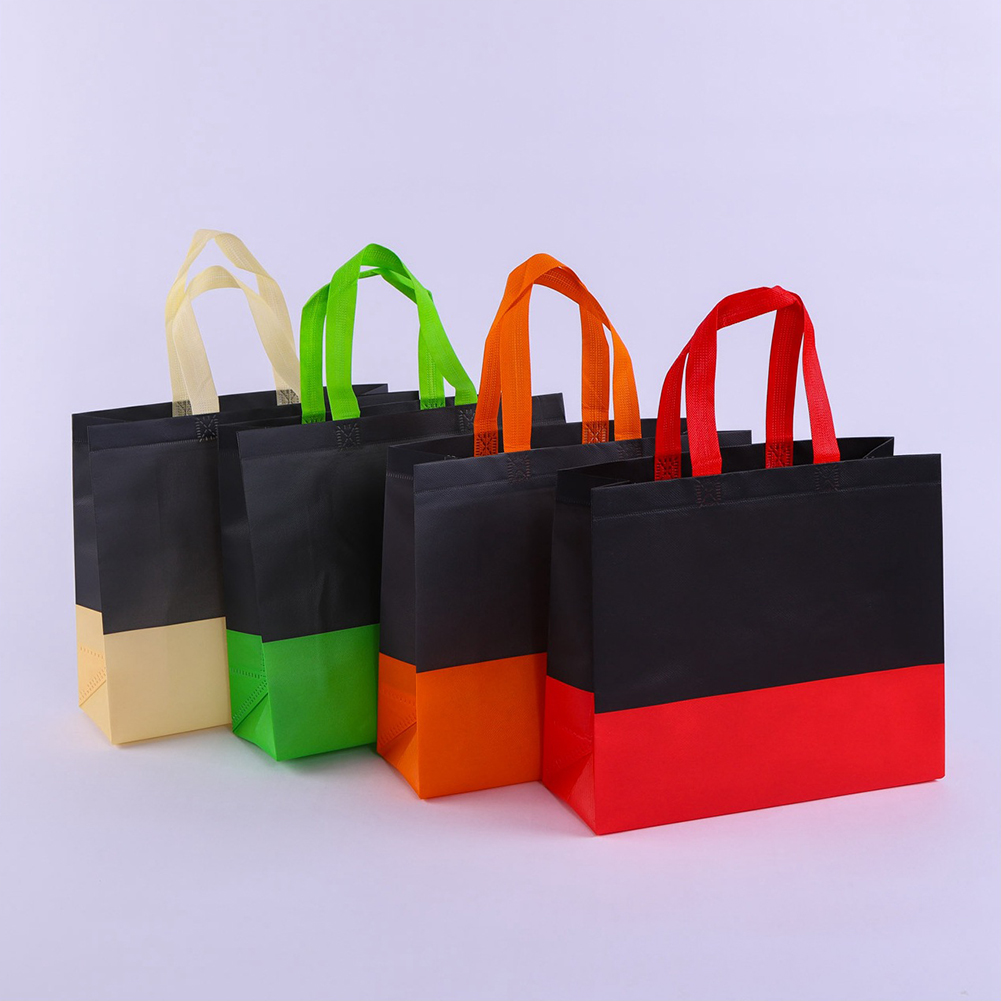 Women Men Reusable Shopping Bag Splice Ecological Reusable Bag Foldable Shopping Bag Large Grocery Bags Convenient Storage Cloth