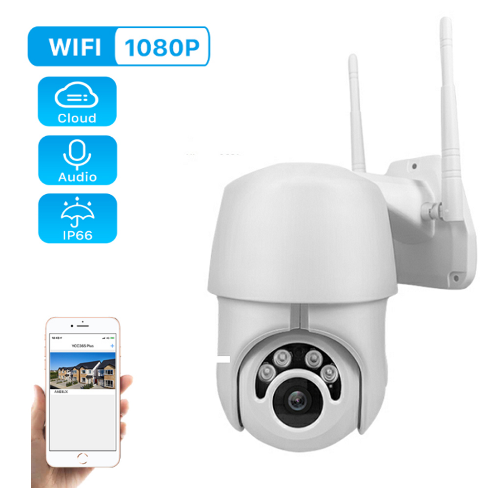 1080P PTZ IP Camera Wifi Outdoor Speed Dome Wireless Wifi Security Camera Pan Tilt Dome P2P IR Network CCTV Surveillance 720P