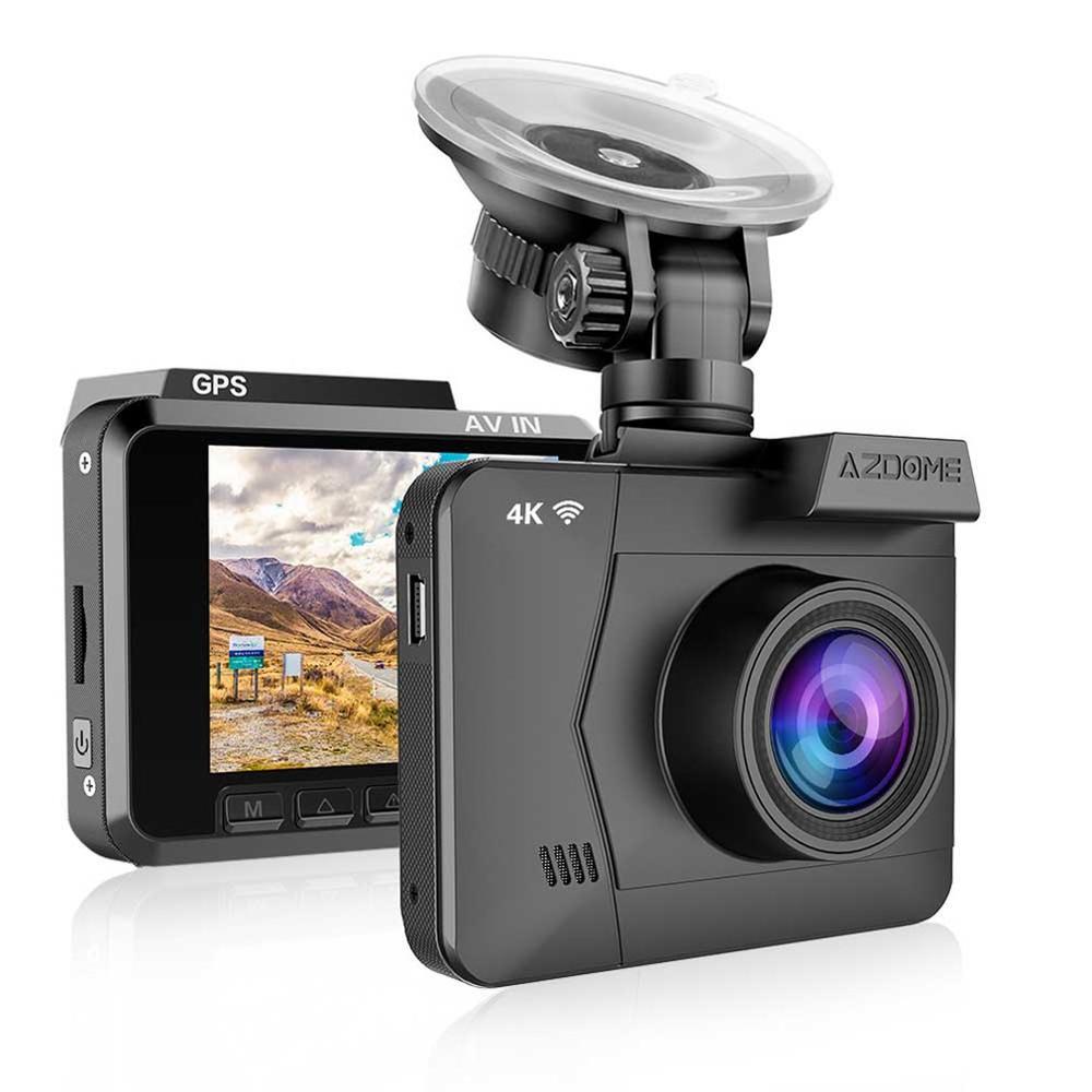 Car-Dvr-Recorder Dash-Cam Rear-View-Camera Dual-Lens Wifi AZDOME Front Night-Vision Fhd