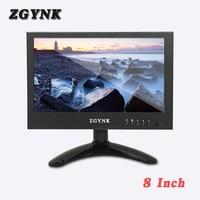 8 inch BNC widescreen 1024X600 HD LCD monitor 16:9 industrial metal enclosure computer HDMI display