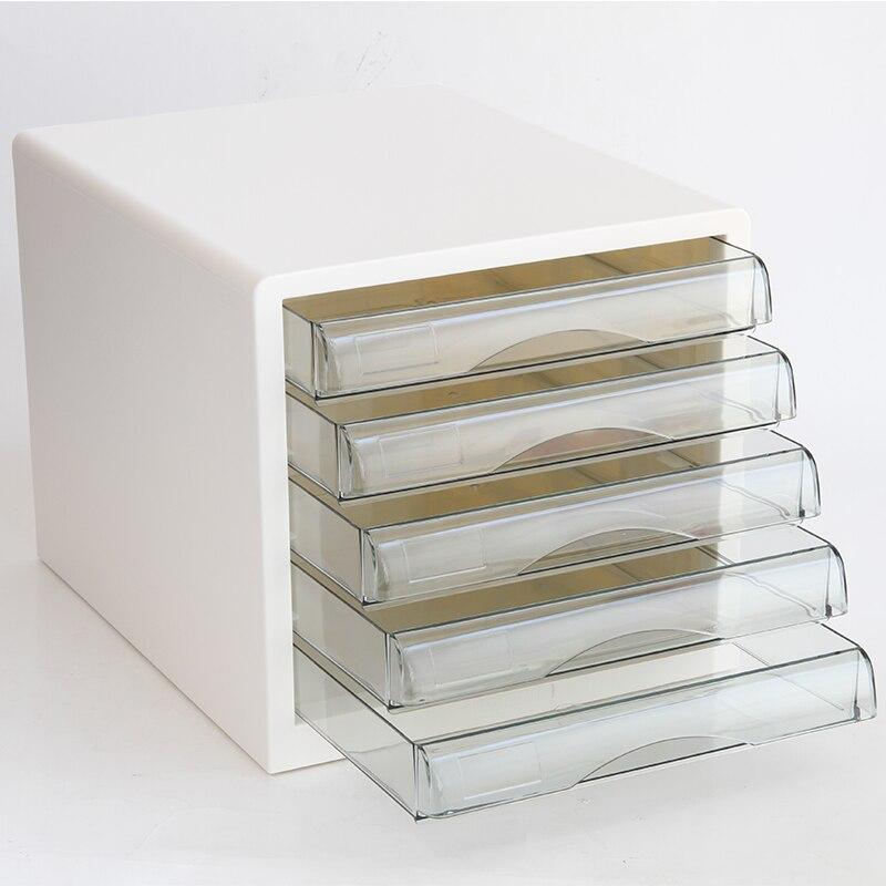 File Cabinet White Black Transparent File Cabinet Plastic Transparent Drawer Data Classification Receiving Cabinet