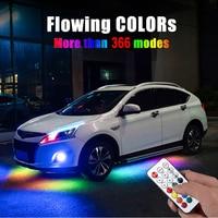 Streamer de flujo de luz LED para coche, sistema de Interior de tubo con Control remoto, lámpara de neón, impermeable IP68