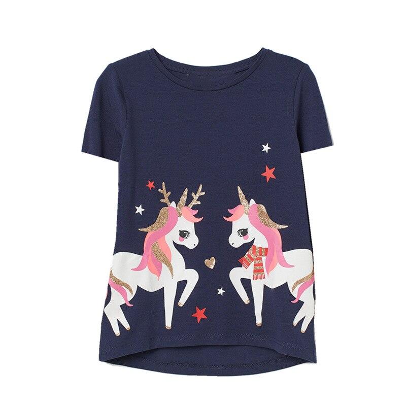 VIDMID Baby Girl T shirt clothing Big Girls Tees Shirts for Children kids  cotton short sleeve T Shirts Summer Clothes tops W01|Tees| - AliExpress