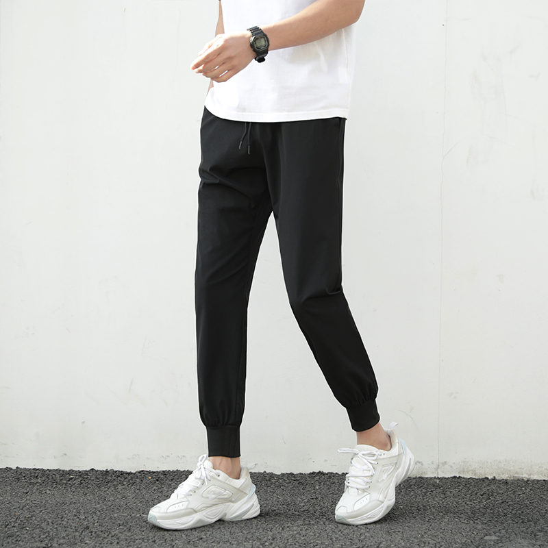 Summer Pants Men 2021 Ultra-Thin Joggers Sweatpants Fashion Casual Fitness Trousers Breathable Quick Dry Ice Silk Men's Pants 2