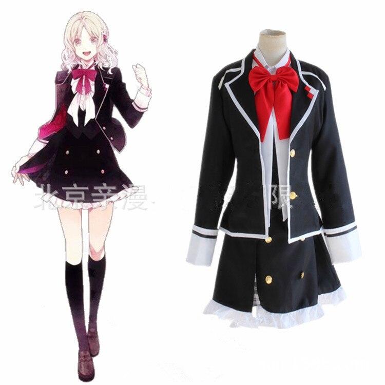 Diabolik Lovers Cosplay Anime Yui Komori Uniform Costume Skirt Dress Cotton Ver