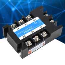 Three Phase Solid State Relay SSR 80-250VAC Input 24-480VAC Load AC-AC 25A/40A/60A/80A Electrical Equipment for CNC Machinery