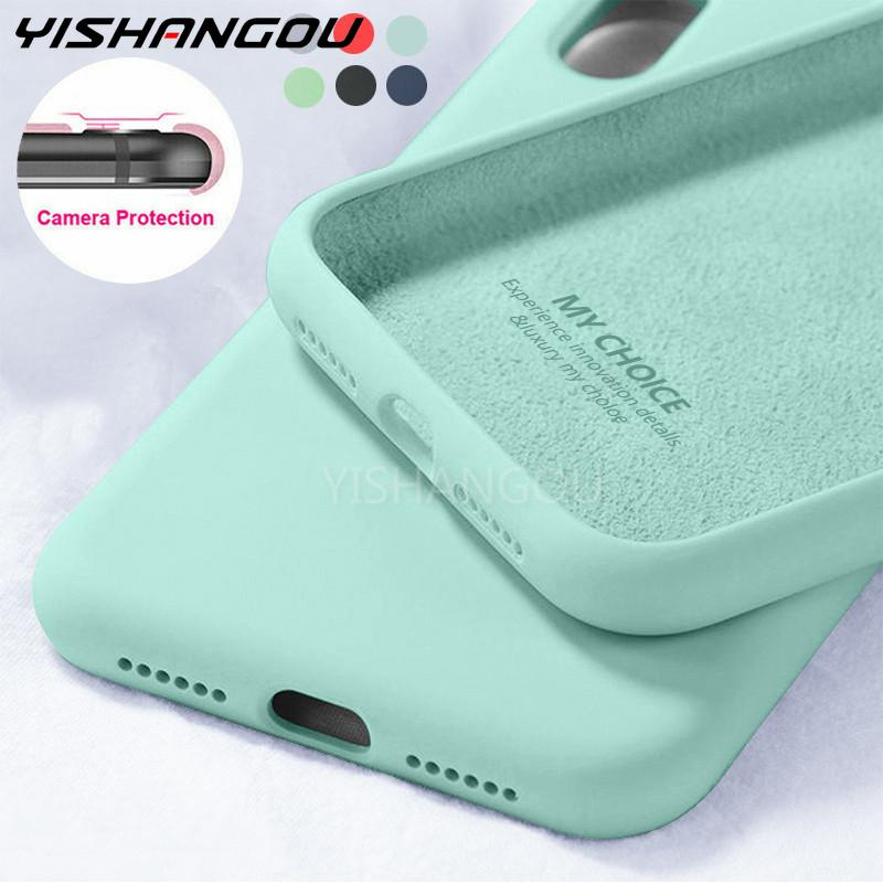 New Color Liquid Soft Silicone Case For Apple iPhone 12 11 Pro Max 6 6S 7 8 Plus SE 2020 X XS Max XR Phone Slim Back Case Cover