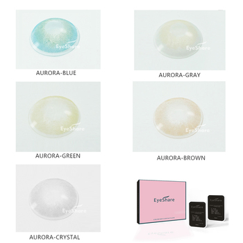 EYESHARE 1 Pair Aurora Europe Colored Contact Lens Yearly Use Cosmetic Contact Lenses Eye Color 2