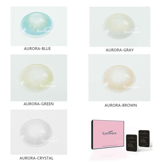 EYESHARE 1 Pair  Aurora Europe Colored Contact Lens Yearly Use Cosmetic  Contact Lenses Eye Color 1