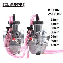 SCL MOTOS دراجة نارية KEIHIN PWK المكربن 33 34 35 36 38 40 42 مللي متر Carb سباق الدراجات البخارية الترابية دراجة ATV مع الطاقة النفاثة