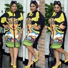 Long Sleeve African Dresses For Women 2021 Vetement Femme Dashiki Print Africa Dress Clothes Dashiki Ankara Dresses Ladies