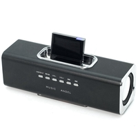 led music Bluetooth V2.0 A2Dp Music Receiver Adapter For Ipod For Iphone 30 Pin Dock Docking Station Speaker With 1 Led(Black) (4)