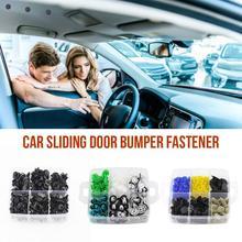 500PCS Car Fasteners Rivet Buckles Automotive Body Panels Lined Interior Sliding Door Bumper Fastener