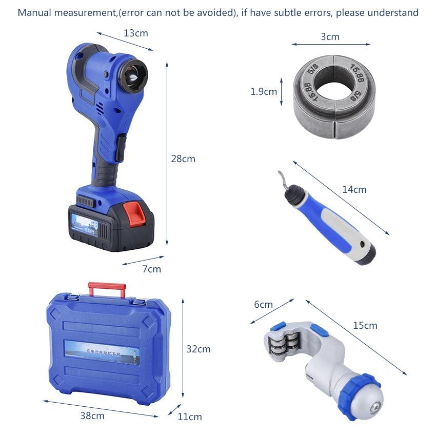Kit d'outils d'évasement électrique sans fil CT-E800AM avec - Outillage électroportatif - Photo 6