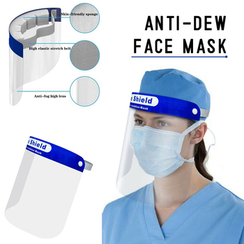 5pcs Fast Ship Anti Droplet Dust-proof Full Face Cover Mouth Mask Visor Shield Droplet Face Shield Transparent For Healthy GM